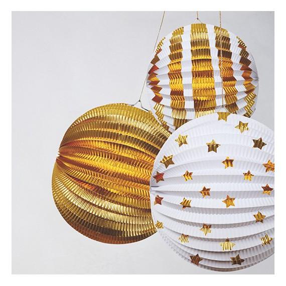 Lampions dorés (par 3)