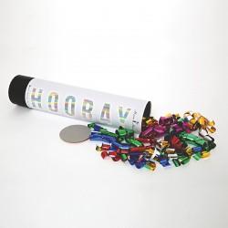 Canon à confettis métallisés multicolores