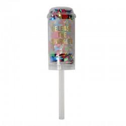 Mini canon à confettis multicolores
