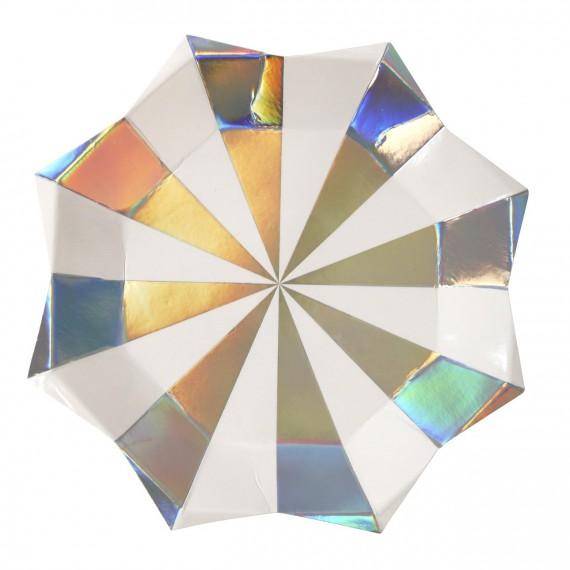 Assiettes carton holographiques (par 8)