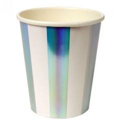 Gobelets carton holographiques (par 8)