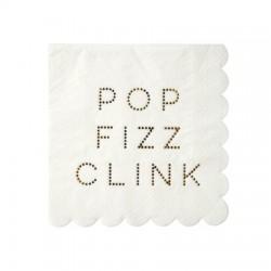 Petites serviettes cocktail en papier (par 16)