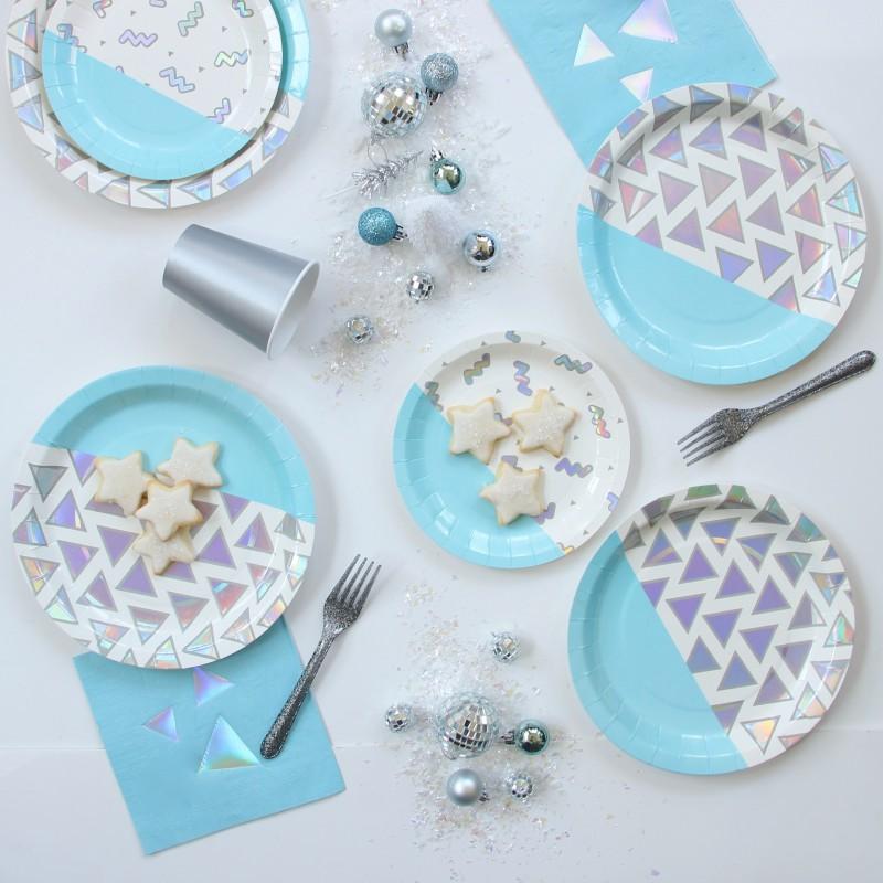 assiettes design bleu par 12 modern confetti. Black Bedroom Furniture Sets. Home Design Ideas