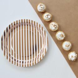 Assiettes papier or cuivre (par 12)