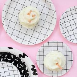 Mini assiettes canapés petits carreaux (par 12)