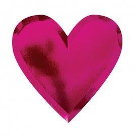 Assiettes coeur (par 8)
