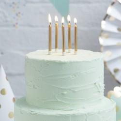 Bougies dorées anniversaire