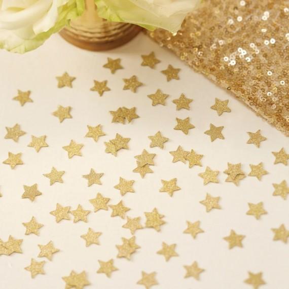 Confettis étoiles paillettes