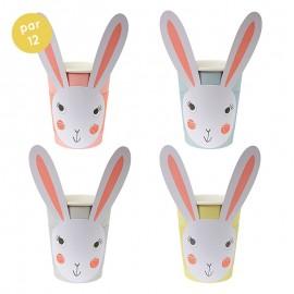 gobelets lapins (par 12)