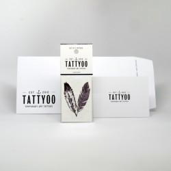 Tatouage éphémère Duo de plumes