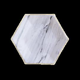Petites assiettes marbre (par 8)