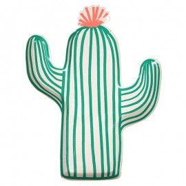 Assiettes forme cactus
