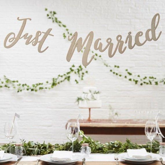 Guirlande mariage original