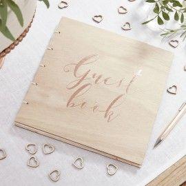 Livre d'or couverture bois