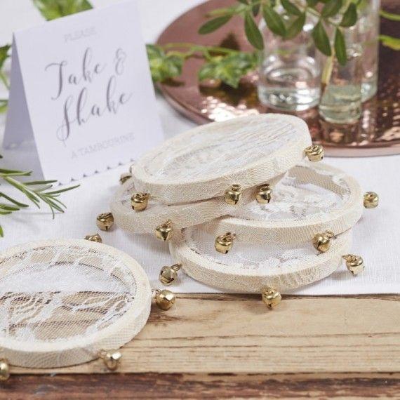 Mini tambourins de mariage
