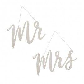 Mr et Mrs bois pour chaises des mariés