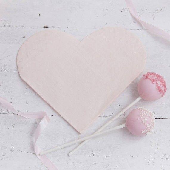 Serviettes en papier coeur
