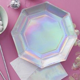 Assiettes jetables holographiques