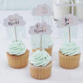 Mini cake toppers nuage