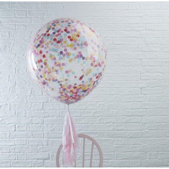 Ballon géant rempli de confetti