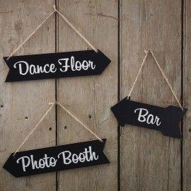 Pancartes flèches mariage et fête