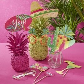 Accessoires photobooth tropical