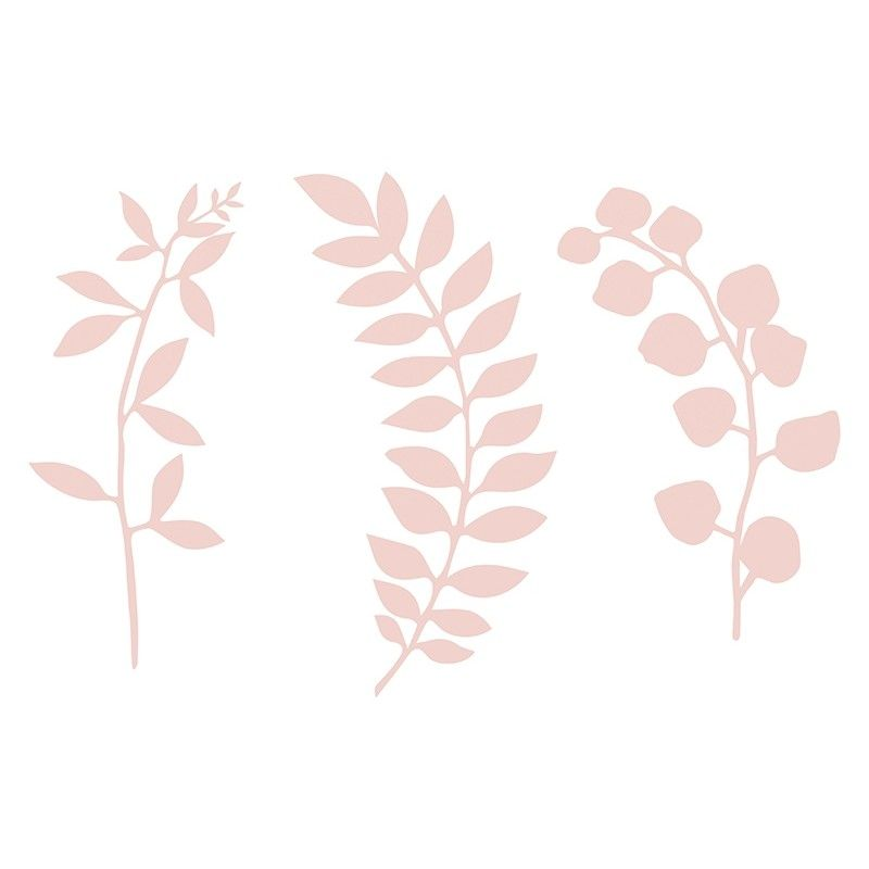 Feuilles d 39 arbre en papier rose modern confetti - Decoration de feuille de papier ...