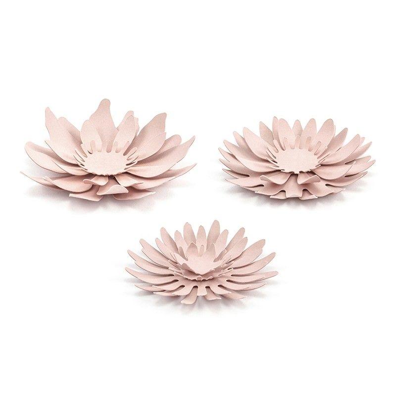 fleurs en papier rose par 3 designs modern confetti. Black Bedroom Furniture Sets. Home Design Ideas