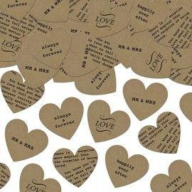 Confettis en forme de cœur