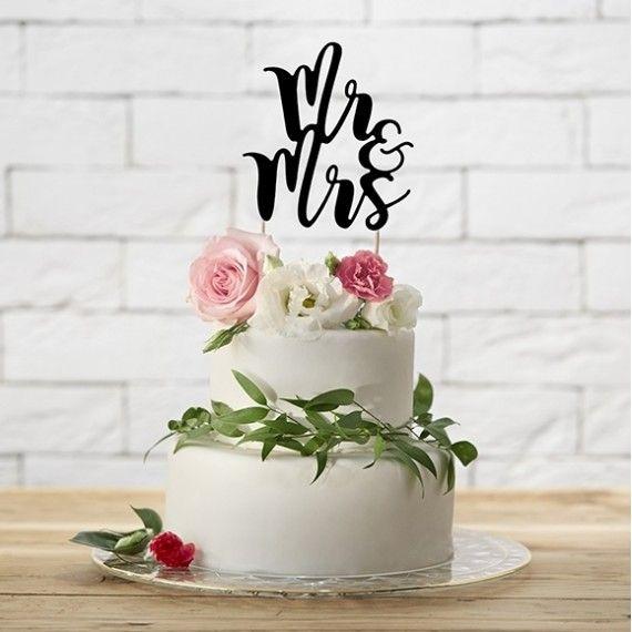Cake topper Mr et Mrs