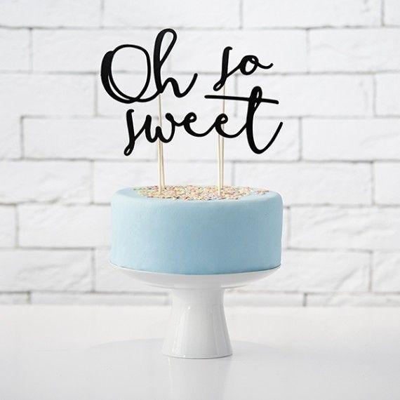 Cake topper baptême original