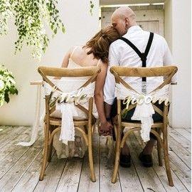 décoration originale chaise des mariés