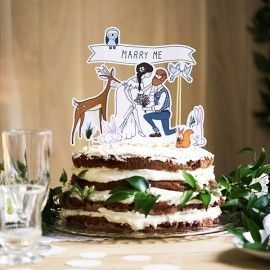 Cake topper mariage marry me