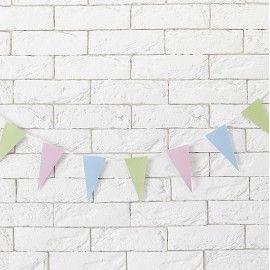 Guirlande fanions pastels trio
