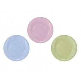 Assiettes trois couleurs