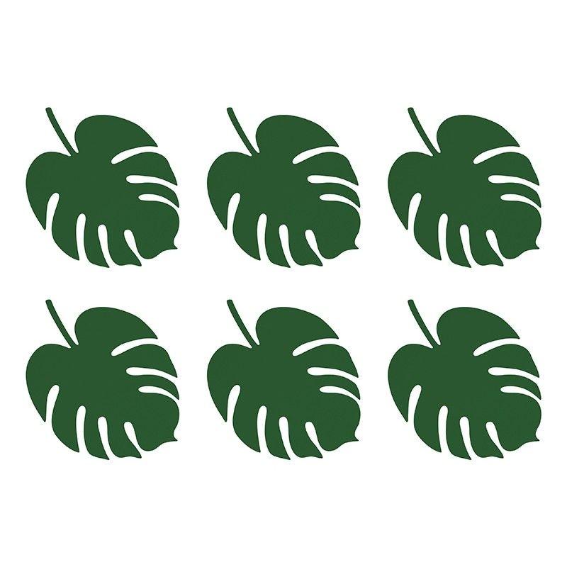 Feuilles tropicales de f te par 6 modern confetti - Feuilles de blettes en epinard ...
