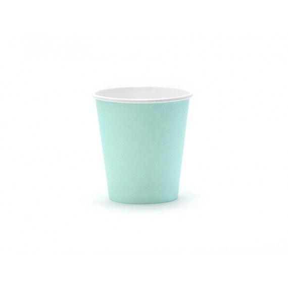 Gobelets jetable turquoise (par 6)