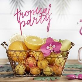 Cake topper tropical