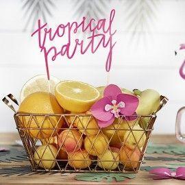 Cake topper tropical
