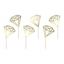 Cupcake toppers diamants