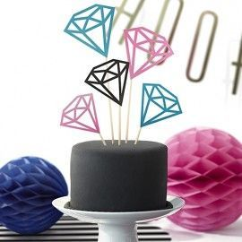 Cake toppers diamants
