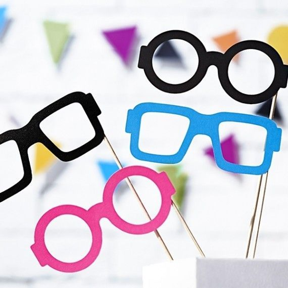 photobooth anniversaire enfant 4 lunettes modern confetti. Black Bedroom Furniture Sets. Home Design Ideas