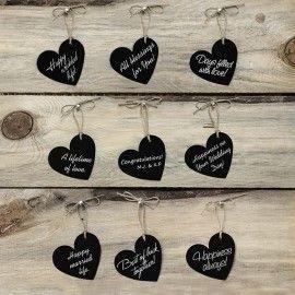 Étiquettes cœur