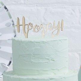 Cake topper en bois Hooray