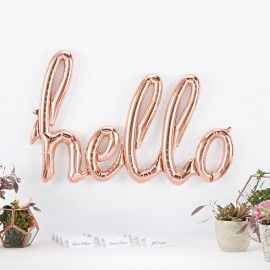 Ballon Hello rose gold