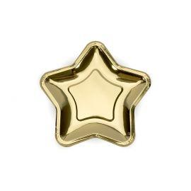Petites assiettes étoile or