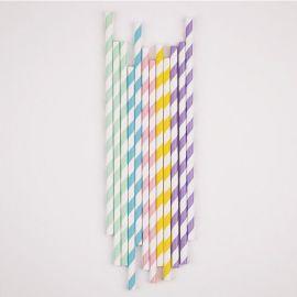 Pailles pastels