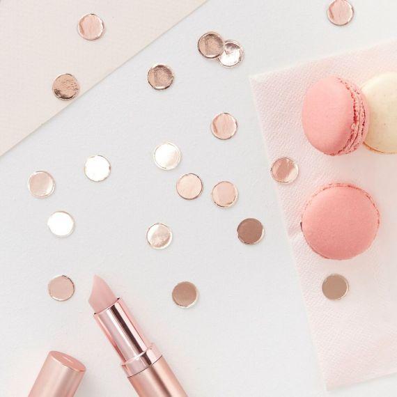 Confettis de table or rose