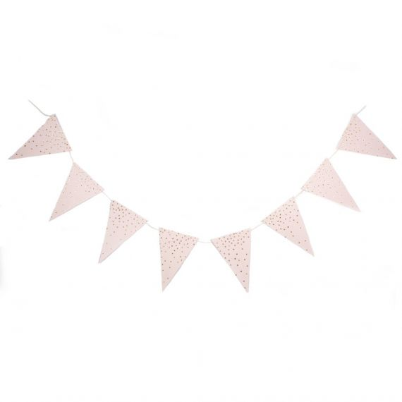 Guirlande fanions rose pale