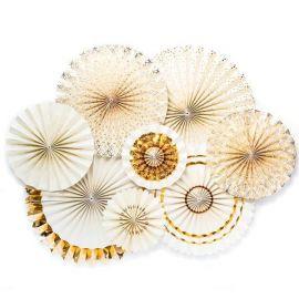 Rosaces ivoires et or